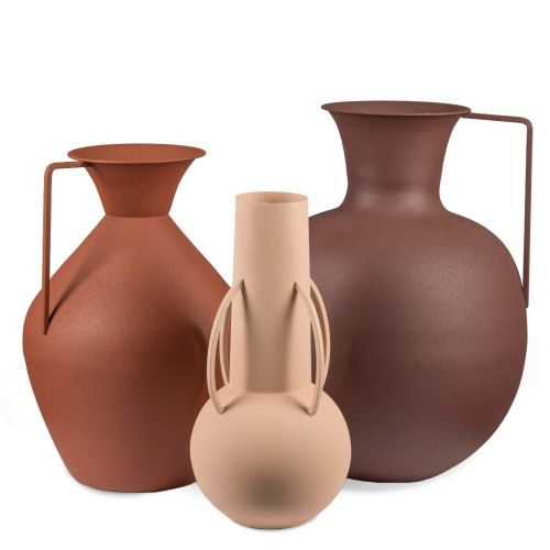 Pols Potten Vases Roman brown set van 3 01