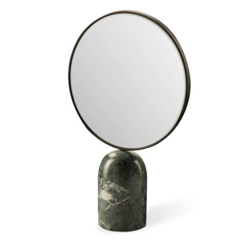 Pols Potten Mirror oval marble green 01